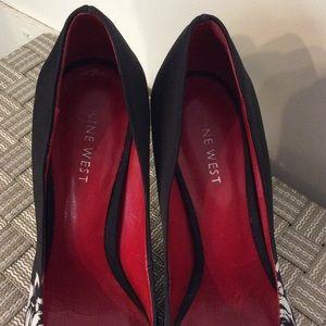 Nine West Shoes - Nine West Black with White Heel
